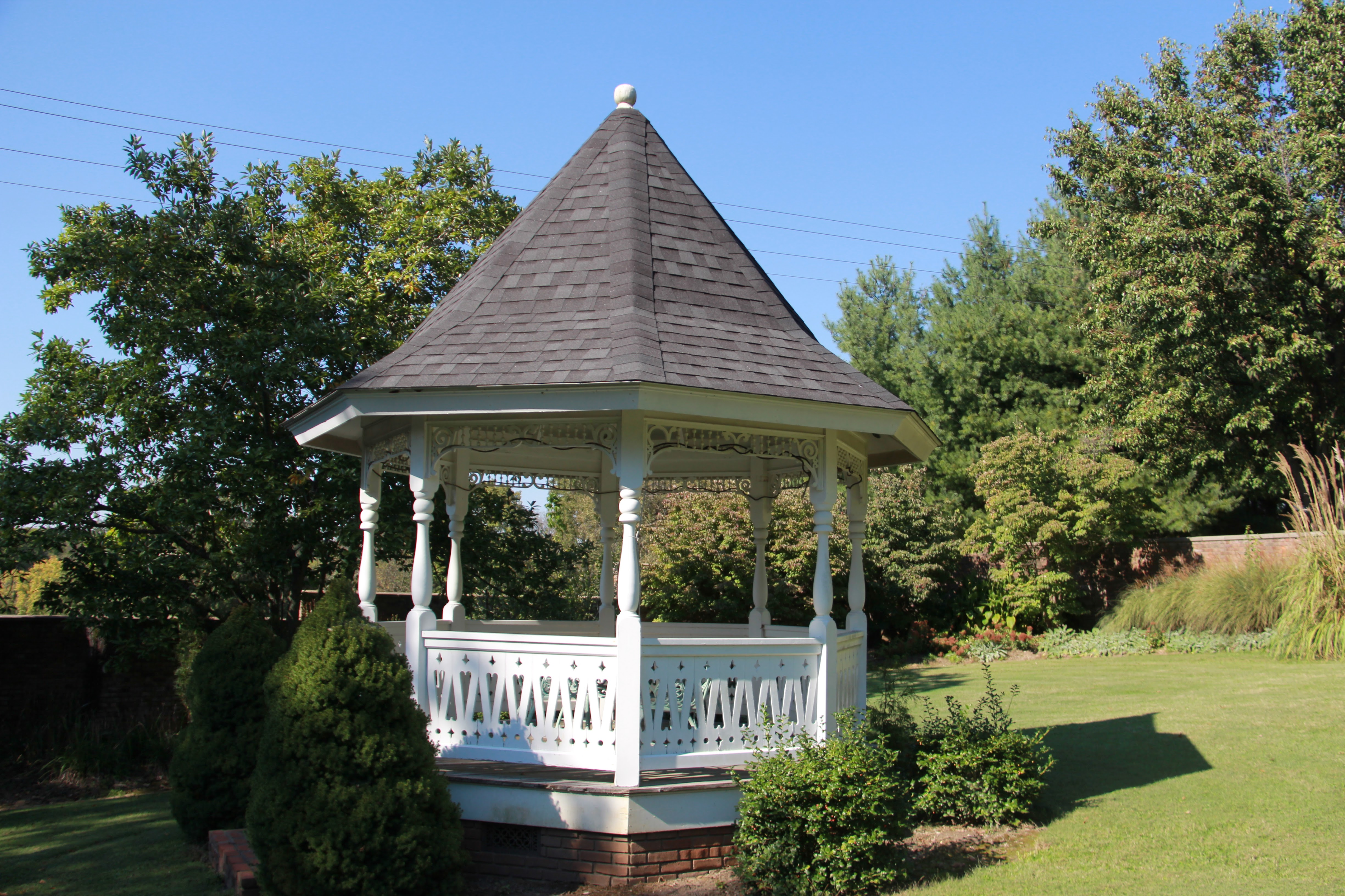Gazebo in the back of the house